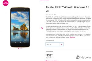 تخفيض سعر هاتف Alcatel IDOL 4S وذلك بعد شهرين من صدور والمواصفات الخاصة بهاتف Alcatel IDOL 4S