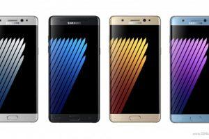 هاتف Galaxy Note7R سيأتي بذات المواصفات والألوان الخاصة بهاتف Galaxy Note7