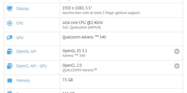 ظهور هاتف OnePlus 5 عبر منصة GFXBench