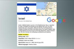"""على خطى الرئيس الأمريكي """"جوجل تعترف بالقدس عاصمة لإسرائيل"""""""